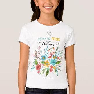 Primera camiseta floral de los niños el | de la