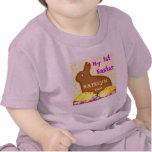 Primera camiseta/mono del bebé de Pascua del perso