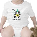 Primera camiseta/mono del cumpleaños del bebé