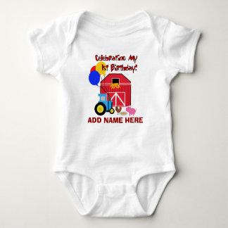 Primera camiseta personalizada del cumpleaños de camisas