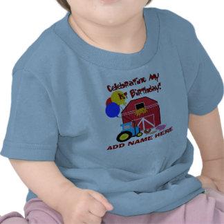 Primera camiseta personalizada del cumpleaños de l