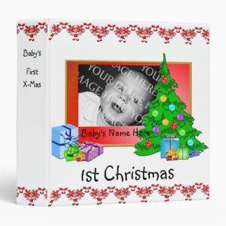 Primera carpeta de la foto del navidad del bebé