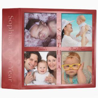 Primera carpeta de las memorias del año del bebé