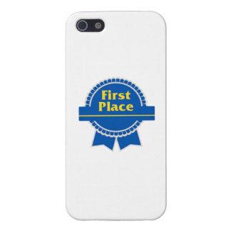 Primera cinta del lugar del azul iPhone 5 cárcasa