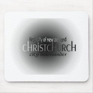 Primera ciudad Christchurch Alfombrillas De Ratón
