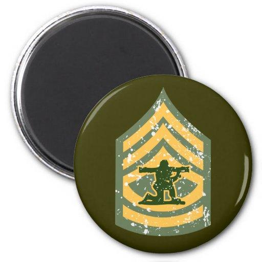 Primera clase de Sargent - remiendo militar Imanes Para Frigoríficos
