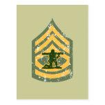 Primera clase de Sargent - remiendo militar Postal