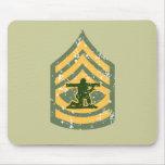 Primera clase de Sargent - remiendo militar Tapete De Ratones