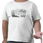 Primera comunicación con los naturales del camiseta