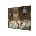 Primera comunión, 1867 impresión de lienzo