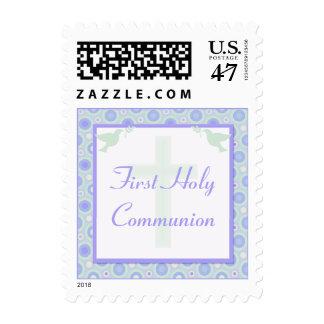 Primera comunión santa de los círculos azules y sellos