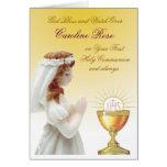 Primera comunión santa felicitaciones