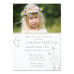 Primera comunión santa Invita de la foto floral de Invitación 12,7 X 17,8 Cm