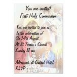 """Primera comunión santa, muchacho de la invitación 3.5"""" x 5"""""""