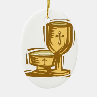 Primera comunión santa ornamentos de navidad