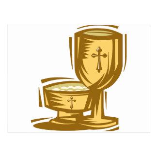 Primera comunión santa tarjeta postal