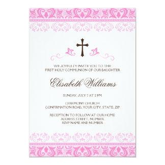 Primera confirmación de la comunión de los chicas invitación 12,7 x 17,8 cm