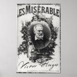 Primera edición de Titlepage de 'Les Miserables Póster