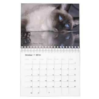 Primera edición del calendario siamés de los