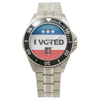 Primera elección • Conmemorativo • Voté el Reloj