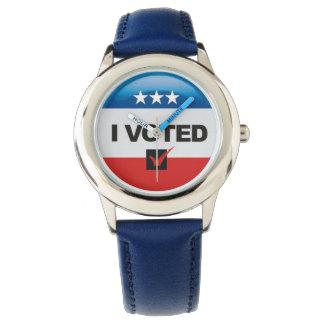 Primera elección • Voté • Conmemorativo Reloj