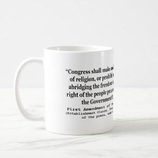 Primera Enmienda de la constitución de Estados Uni Taza Básica Blanca