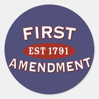 Primera Enmienda Pegatina