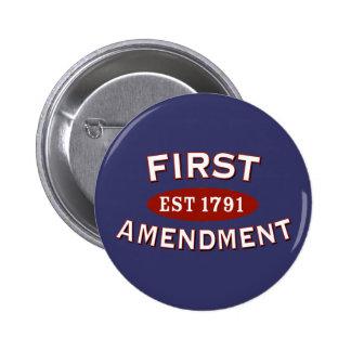 Primera Enmienda Pin Redondo De 2 Pulgadas