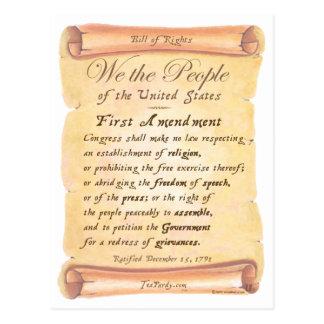 Primera Enmienda Postales