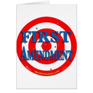 Primera Enmienda Tarjeta De Felicitación