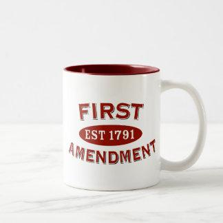 Primera Enmienda Taza De Café De Dos Colores