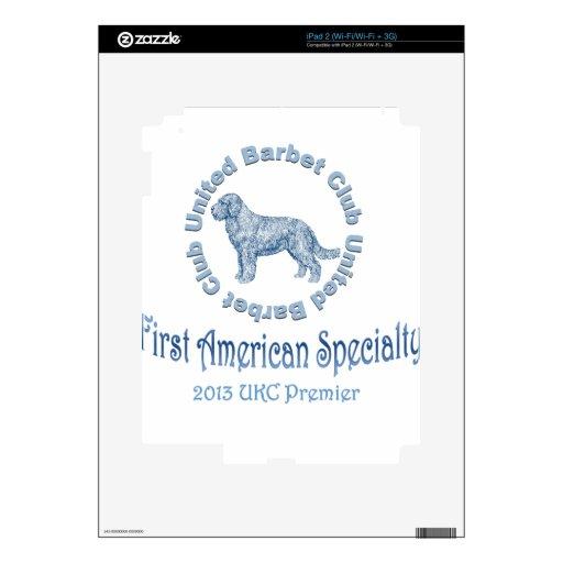 Primera especialidad americana del perro de aguas calcomanías para iPad 2