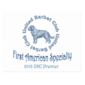 Primera especialidad americana del perro de aguas postales