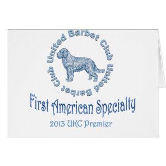Primera especialidad americana del perro de aguas tarjeta de felicitación