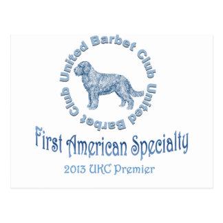 Primera especialidad americana del perro de aguas tarjeta postal