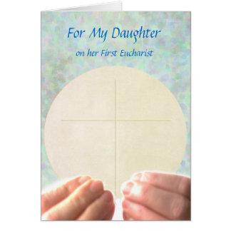 Primera eucaristía - hija tarjeta de felicitación