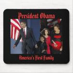 PRIMERA FAMILIA de presidente Obama AMÉRICA Alfombrilla De Ratones