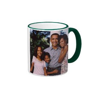 Primera familia de presidente Obama América Taza De Café