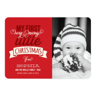"""Primera feliz pequeña tarjeta de la foto del invitación 5"""" x 7"""""""