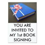 Primera firma del libro invitación 8,9 x 12,7 cm