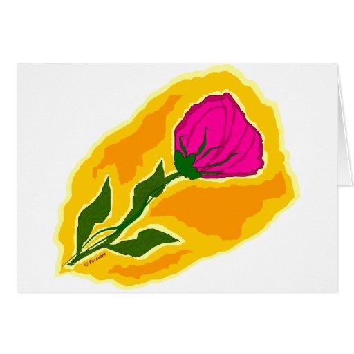 primera floración tarjeta de felicitación