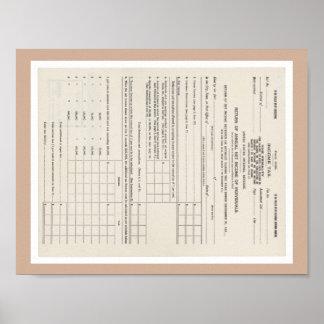 Primera forma 1040 del impuesto sobre la renta de impresiones