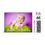 Primera foto del cumpleaños del bebé lista sellos