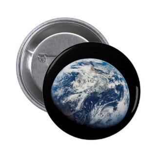Primera fotografía de la Tierra tomada por el Homb Pin Redondo De 2 Pulgadas