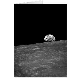 Primera fotografía de un Earthrise tomado por Tarjeta De Felicitación