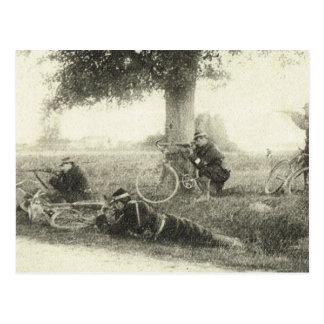 Primera Guerra Mundial, brigada de la bicicleta Tarjetas Postales