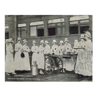 Primera Guerra Mundial, Cruz Roja, en alguna parte Postales
