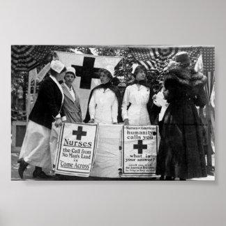 Primera Guerra Mundial de la estación de reclutami Poster