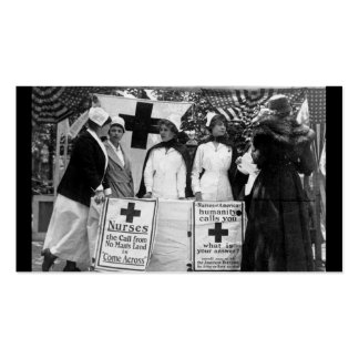 Primera Guerra Mundial de la estación de reclutami Tarjeta De Visita