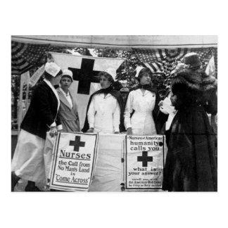 Primera Guerra Mundial de la estación de reclutami Tarjeta Postal
